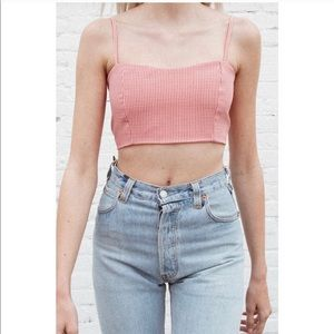 Brandy Melville Red/White gingham crop top. NWOT